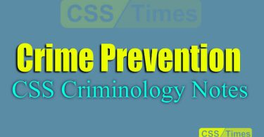 Crime Prevention | CSS Criminology Notes