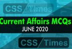 Current Affairs MCQS June 2020 (National / International MCQs)