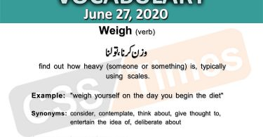 Daily DAWN News Vocabulary with Urdu Meaning (27 June 2020)