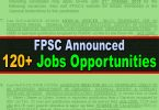 FPSC Announced 126 New Jobs (Advertisement No. 52020)