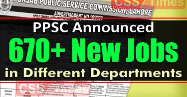 PPSC Announced 670+ Jobs in Different Govt Departments through One Paper Test