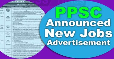 PPSC Jobs Advertisement Number 18/2020 (July/Aug 2020)