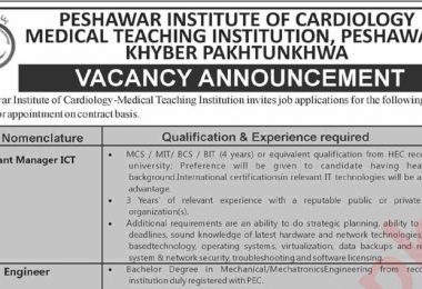 Vacancy Announcement in PIC Medical Teaching Institute