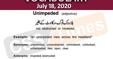 Daily DAWN News Vocabulary with Urdu Meaning (18 July 2020)