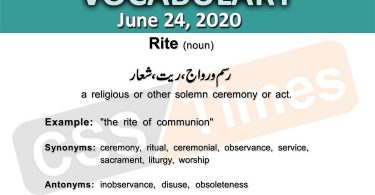 Daily DAWN News Vocabulary with Urdu Meaning (24 June 2020)