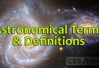 Astronomical Terms & Definitions | World General Knowledge