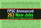 FPSC Announced 263 New Jobs (Advertisement No. 6/2020)