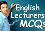 Important MCQs from PPSC English Lecturers Past Papers (Set-I)