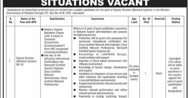 New Job Opportunity in Election Commission of Pakistan