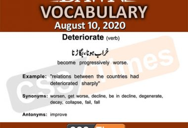 Daily DAWN News Vocabulary with Urdu Meaning (10 August 2020)