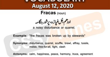 Daily DAWN News Vocabulary with Urdu Meaning (12 August 2020)