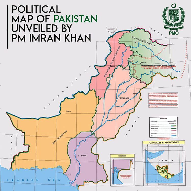 new political map' of Pakistan includes Indian-occupied Kashmir