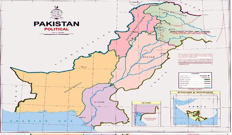Prime Minister unveils 'new political map' of Pakistan includes IOK