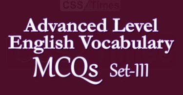 Advanced Level English Vocabulary MCQs (Set-3)