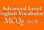 Advanced Level English Vocabulary MCQs (Set-4)