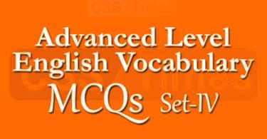 Advanced Level English Vocabulary MCQs (Set-4)