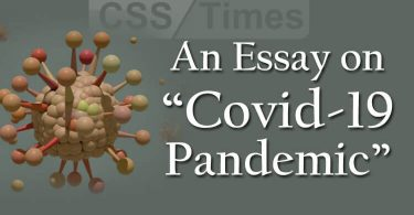 "CSS Essay on ""Covid-19 Pandemic"""