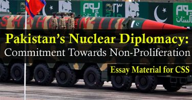 Pakistan's Nuclear Diplomacy: Commitment Towards Non-Proliferation | Essay Material