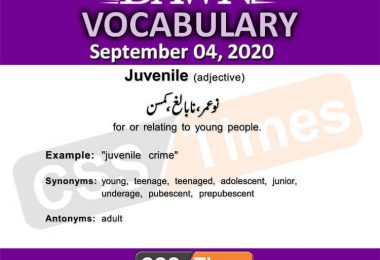 Daily DAWN News Vocabulary with Urdu Meaning (04 September 2020)