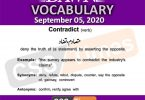 Daily DAWN News Vocabulary with Urdu Meaning (05 September 2020)