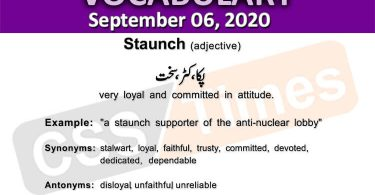 Daily DAWN News Vocabulary with Urdu Meaning (06 September 2020)