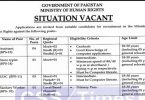 Situation Vacant in Ministry of Human Rights, Government of Pakistan