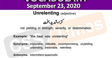 Daily DAWN News Vocabulary with Urdu Meaning (23 September 2020)