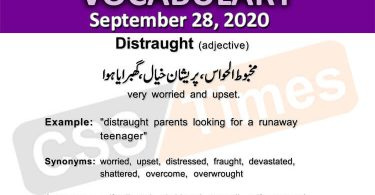 Daily DAWN News Vocabulary with Urdu Meaning (28 September 2020 )