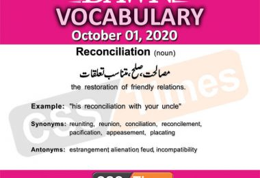 Daily DAWN News Vocabulary with Urdu Meaning (01 October 2020 )