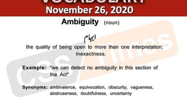 Daily DAWN News Vocabulary with Urdu Meaning (26 November 2020)