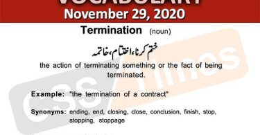 Daily DAWN News Vocabulary with Urdu Meaning (29 November 2020)