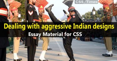 Dealing with aggressive Indian designs | Essay Material for CSS