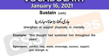 Daily DAWN News Vocabulary with Urdu Meaning (16 January 2021)