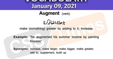 Daily DAWN News Vocabulary with Urdu Meaning (09 January 2021)