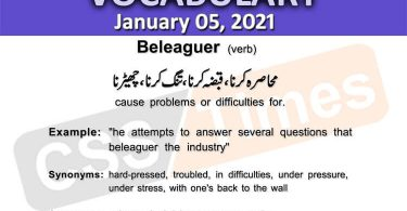Daily DAWN News Vocabulary with Urdu Meaning (05 January 2021)