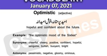 Daily DAWN News Vocabulary with Urdu Meaning (07 January 2021)