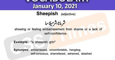 Daily DAWN News Vocabulary with Urdu Meaning (10 January 2021)