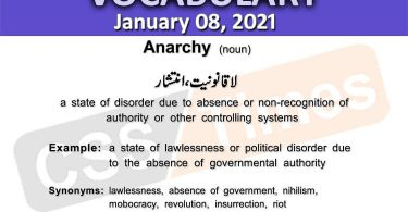 Daily DAWN News Vocabulary with Urdu Meaning (08 January 2021)