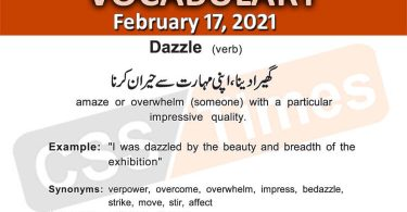 Daily DAWN News Vocabulary with Urdu Meaning (17 February 2021)