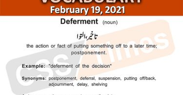 Daily DAWN News Vocabulary with Urdu Meaning (19 February 2021)