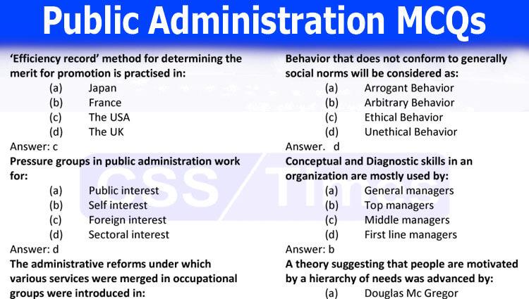 Public Administration MCQs