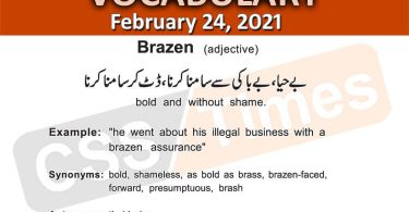 Daily DAWN News Vocabulary with Urdu Meaning (24 February 2021)