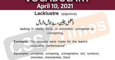 Daily DAWN News Vocabulary with Urdu Meaning (10 April 2021)