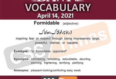 Daily DAWN News Vocabulary with Urdu Meaning (14 April 2021)