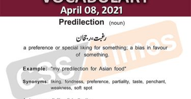 Daily DAWN News Vocabulary with Urdu Meaning (08 April 2021)