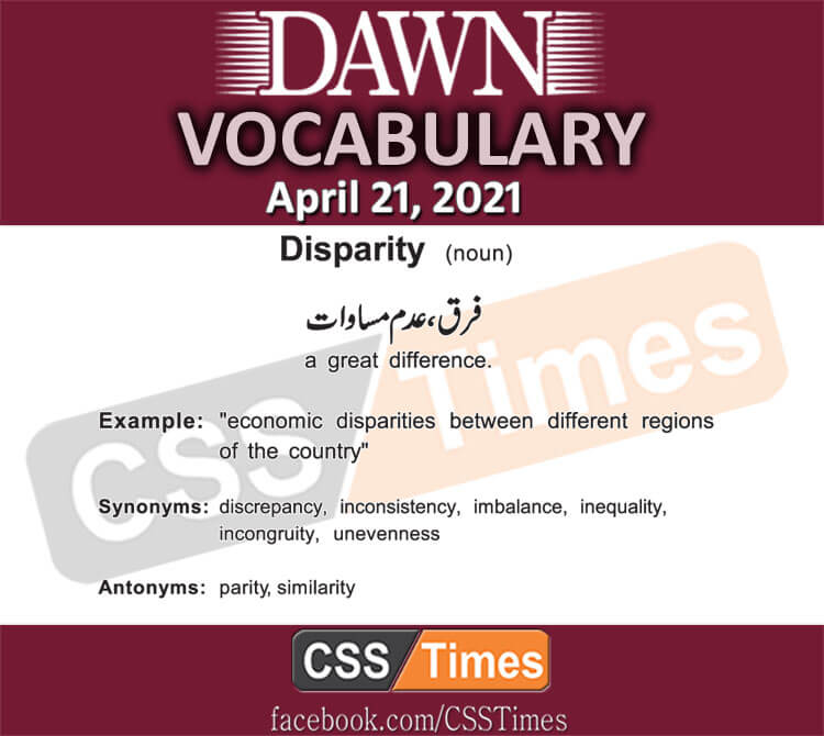 Daily DAWN News Vocabulary with Urdu Meaning (21 April 2021)