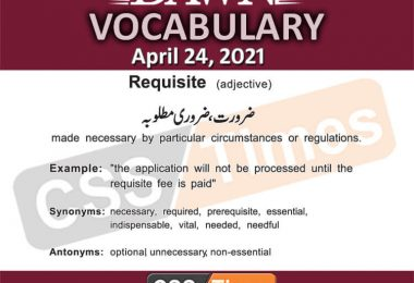 Daily DAWN News Vocabulary with Urdu Meaning (24 April 2021)