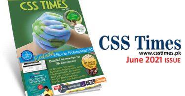 CSS Times (June 2021) E-Magazine | Download in PDF Free