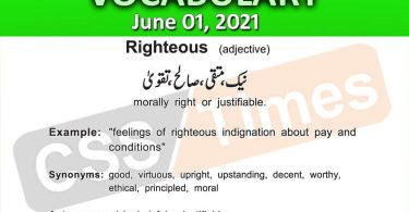 Daily DAWN News Vocabulary with Urdu Meaning (01 June 2021)