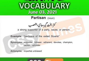 Daily DAWN News Vocabulary with Urdu Meaning (03 June 2021)